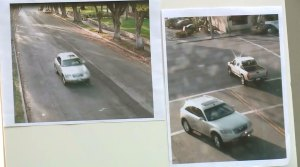 Still photos showing an Infiniti SUV that struck an 86-year-old woman were released by LAPD on March 26, 2015.