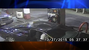 A surveillance still image of the car connected to the four wanted people was also released by Pasadena police.