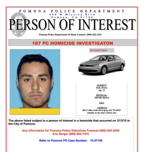 Pomona police released this flier related to Henry Solis.