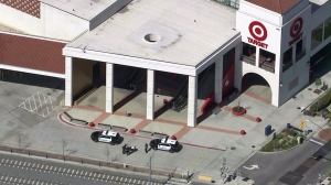 Authorities followed a pursuit driver to a Target store in Azusa on Thursday, March 5, 2015.