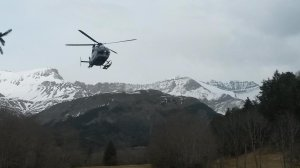 Rescue teams head to crash site of a Germanwings plane in the French Alps on March 24, 2015. (Credit: Amanda Rancoule/CNN iReport)