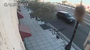 Long Beach police released this image of a black SUV sought in connection with the kidnapping and death of a 3-week-old baby girl.