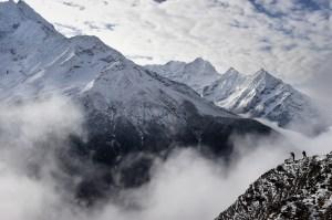 Mount Everest is pictured on April 18, 2015. (Credit: ROBERTO SCHMIDT/AFP/Getty Images)