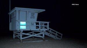 A lifeguard tower is seen at Manhattan Beach. (Credit: RMG News)