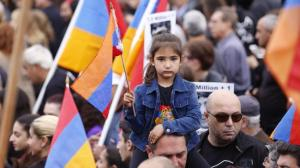 Thousands marched marking the 100th anniversary of Armenian Genocide in Hollywood on April 24, 2015. (Credit: Al Seib / Los Angeles Times)