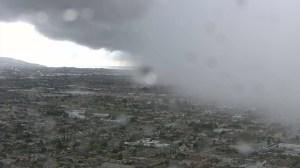 A storm dumped rain onto the South Bay on April 7, 2015. (Credit: KTLA)