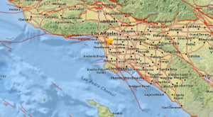 The USGS provided this graphic after a magnitude-3.5 earthquake struck near Baldwin Hills on April 12, 2015.