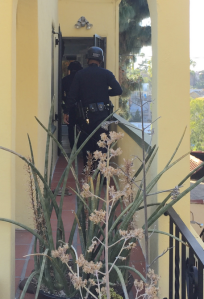 SWAT officials responded to a barricade situation in Silver Lake on April 18, 2015. (Credit: Kirk Cruz)