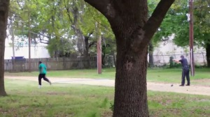 A still from a video obtained by the New York Times shows a South Carolina police officer fatally shooting a man on April 4, 2015.