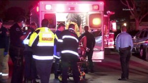 Four people were taken to hospitals after being stabbed at a house party in Buena Park on Saturday, May 9, 2015. Their injuries were not life-threatening, police said. (Credit: OnScene)
