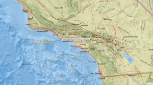 A magnitude-3.9 earthquake struck the Windsor Hills area of South Los Angeles, the U.S. Geological Survey said. (Credit: USGS)