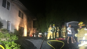 A faulty outlet was determined to have caused this fire in Ventura Tuesday morning. (Credit: Ventura City Fire Department)