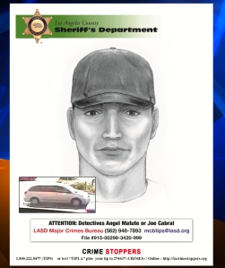 "A sketch of the ""Band Aid Bandit"" was released by the Los Angeles County Sheriff's Department."