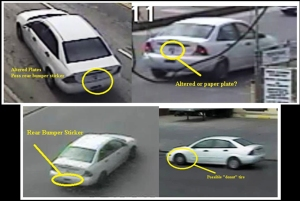 LAPD released these images of a getaway car used in May 29, 2015, robberies.