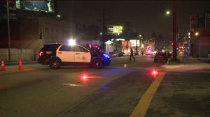 A hit-in-run in Echo Park on June 12, 2015, left a 15-year-old boy in critical condition. (Credit: KTLA)