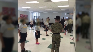The Huntington Park Police Department posted this photo on Facebook on May 17, 2015, of the LEAD boot camp held in San Luis Obispo.