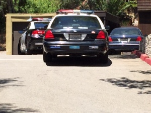 LAPD was responding to a barricaded person at a home in the Hollywood Hills on June 8, 2015. (Credit: KTLA)