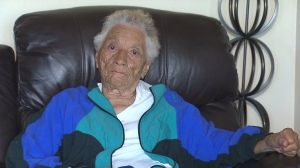 Mabel Miles has known Jackson since he was a boy living in Detroit and helped put him through college. (Credit: KTLA)