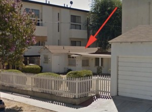 Before she was Marilyn Monroe, Norma Jean Dougherty lived in this home at 5258 Hermitage Ave. for about one year from 1944 to 1945. (Credit: CurbedLA)