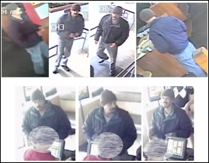 LAPD released these images of a man who entered two chain restaurants in Westchester on May 29, 2015, to rob them.