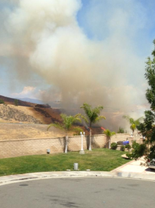 Instagram user @zacherysays posted this picture of a fire in Castaic on June 13, 2015.