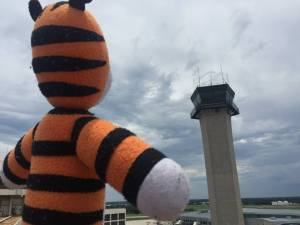"""Tampa International Airport posted this photo on its Facebook page on June 15, 2015, with the caption: """"Checking out the FAA Air Traffic Control Tower. Looks like a storm's rolling in!"""""""