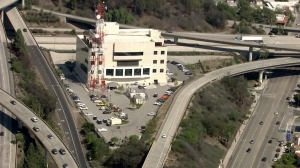 California Highway Patrol's communications center was being evacuated on July 28, 2015. (Credit: KTLA)