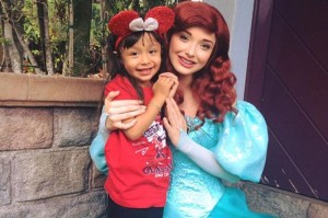 Stephanie Martinez, 3, is seen with the Disney character Ariel in a photo published on a GoFundMe page.
