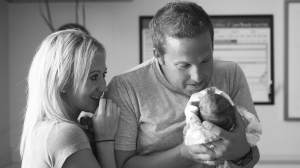 The couple and their photographer, Kristen Prosser, flew to Florida early Wednesday. By Wednesday afternoon, the baby was in the arms of her parents. (Credit: Kristen Prosser)