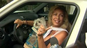 Dita de Leon responds to her neighbors' concerns on July 2, 2015. (Credit: KTLA)