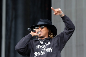 """Rapper """"Future,"""" real name Nayvadius DeMun Wilbur, performs during the Governors Ball Music Festival on Randall's Island Park in New York, on June 5, 2015.  (Credit: TREVOR COLLENS/AFP/Getty Images)"""