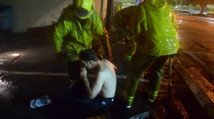 Chris Gregg is shown immediately after his rescue on July 9, 2015. (Credit: OnScene.TV)