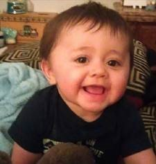 Middletown, Connecticut, police believe Tony Moreno, 22, jumped off a bridge while holding his infant son Aaden, pictured. Firefighters pulled Tony from the Connecticut River Sunday, July 5, 2015. Police continued their search for Aaden. (Credit: Middletown Police Department)