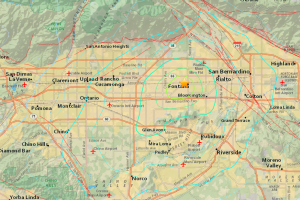 The USGS provided this graphic after a preliminary 4.3-magnitude earthquake hit the Fontana area on July 25, 2015.