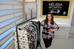 "Melissa McCarthy debuts first fashion collection, ""Melissa McCarthy Seven7"" live at HSN Studios on Aug. 13, 2015, in St Petersburg, Florida. (Credit: Gerardo Mora/Getty Images for HSN)"