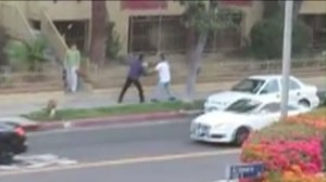 A witness captured footage of a road rage incident in Koreatown on Tuesday, May 26, 2015.
