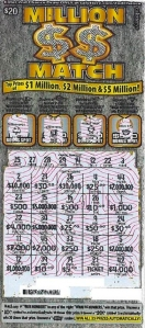 Thong Vannarath's lottery ticket is seen in this image provided by the California Lottery.