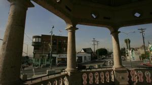 A bandstand in Mariachi Plaza in the Boyle Heights neighborhood of Los Angeles is shown. (Credit: Bob Chamberlin / Los Angeles Times)