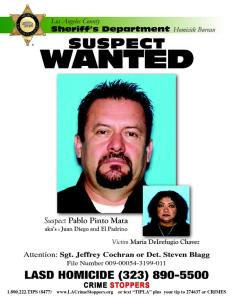 Pablo Pinto Mata was identified Aug. 25, 2015, as the suspect in the killing of Maria Delrefugio Chavez, who disappeared in 2009. (Credit: LASD)