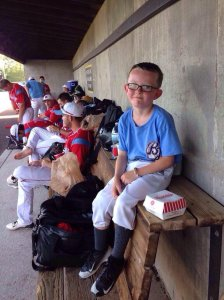 Nine-year-old Kaiser Carlile died one day after a batter accidentally hit him with a warmup swing. (Credit: Liberal Bee Jays)