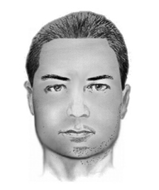 The Temecula Police Department released this sketch of a man sought for sexual battery after two unwanted encounters on Aug. 19, 2015.