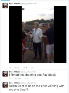 A Twitter account apparently linked to Vester Flanagan sent tweets about a fatal shooting of a WDBJ reporter and photographer on Aug. 26, 2015.