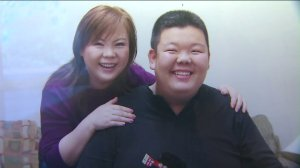 Hun Joon Lee, 19, is seen with his mother in a photo provided by his family.