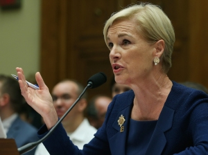 Cecile Richards, president of Planned Parenthood Federation of America Inc. testifies during a House Oversight and Government Reform Committee hearing on Capitol Hill, September 29, 2015 in Washington, DC. (Credit: Mark Wilson/Getty Images)