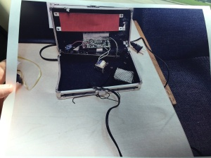 Ahmed Mohamed's clock is seen in an image handed out by the Irving Police Department.
