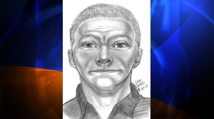 The Los Angeles County Sheriff's Department released this sketch of a man wanted for impersonating a peace officer.