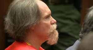 Cameron John Brown, 53, is shown in court Sept. 18, 2015, during his sentencing in his third trial for the murder of Lauren Sarene Key in November 2000. (Credit: pool)