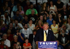 Republican Presidential candidate Donald Trump speaks during a town hall event at Rochester Recreational Arena Sept. 17, 2015, in Rochester, New Hampshire. (Credit:  Darren McCollester/Getty Images)