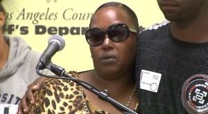 Kenya Gatling, Marshawn Jackson's mother, speaks about her son's death on Sept. 17, 2015. (Credit: KTLA)
