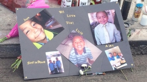 Three young brothers are remembered after being found stabbed to death inside a vehicle in South L.A. on Sept. 9, 2015. (Credit: KTLA)